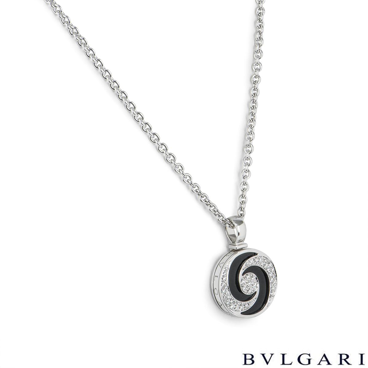 Bvlgari Optical Illusion Diamond & Onyx Spinning Pendant